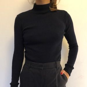 Brandy Melville Navy Blue Turtleneck